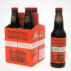 No-Li 4-pack Imperial Stout packaging designed by Riley Cran.