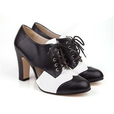 Alexa black and white vegan high heel lace up | Beyond Skin in the UK