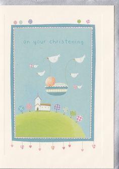 Baby Boy Christening Card - Karenza Paperie