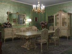 Luxusní vyřezávaný nábytek do jídelny od Meroni Francesco e Figli, více na: http://www.saloncardinal.com/galerie-meroni-francesco-e-figli-e1c