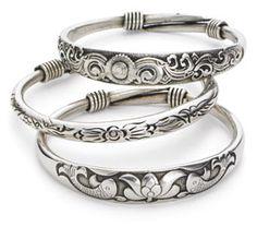 Lovely sterling silver bracelets from Wireless-$15.00 each...one of each plz!