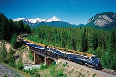 The luxury sightseeing Rocky Mountaineer train crosses Ottertail Creek in Yoho National Park in British Columbia. - THE CANADIAN PRESS