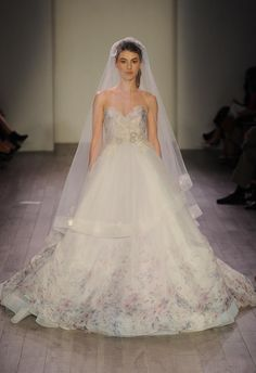 Lazaro Shows Romantic Floral Wedding Dresses for Spring 2016 | TheKnot.com