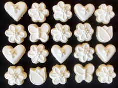 Bite size flowers tulips butterflies sugar cookies hearts by SweetArtSugarCookies