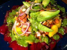 Mango-Avocado Salad with Lime-Cilantro Dressing