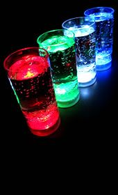 Glowing LED Shot Glasses (Shooters) http://glowproducts.com/products/BPSGS