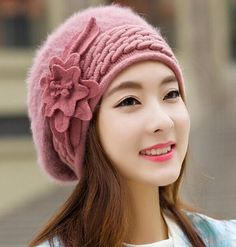 Cheap winter ladies' hats, Buy Quality skully hat directly from China winter hats for women Suppliers: Beanies Women's Winter Hats For Women Knitted Girls Bonnet Caps Winter Lady Hats Brand Wool Fur Beanie Flower Skullies Hat 2017 Knit Beanie, Beanie Hats, Women's Hats, Slouchy Hat, Ski, Bonnet Cap, Flower Hats, Knitting Wool, Winter Hats For Women
