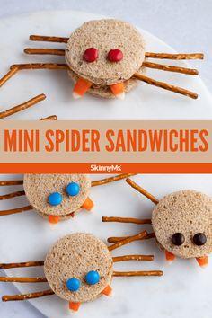 Mini Spider Sandwiches
