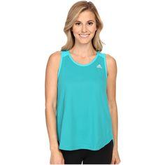 de381eba47570 adidas Run Tank Top (Equipment Green) Women s Sleeveless ( 20) ❤ liked on  Polyvore featuring activewear