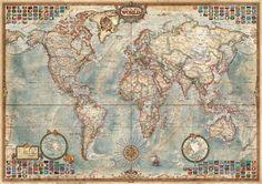 Puzzle mapa politico- mapa antiguo ( Ref:  0000016005 )