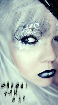 fantasy goth gothic makeup fashion beauty