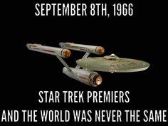 Star Trek TOS premire date meme Star Trek Day, Star Wars, Star Trek Quotes, Star Trek Original Series, Star Trek Starships, Sci Fi Tv, Star Trek Movies, Starship Enterprise, Star Trek Ships