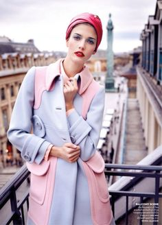 red turban + pink outfit