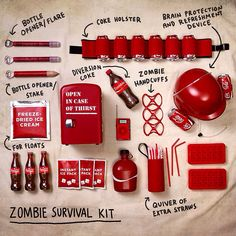Zombie survival kit with coca cola