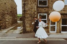 Vintage Real Bride with added balloons!
