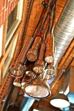Use grandpa's old flashlights. Beeskneesvintagegarden