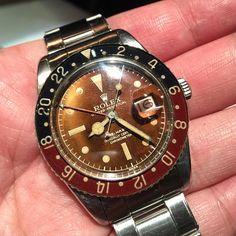 Tropical Rolex GMT-Master 6542 with original bakelite bezel