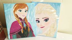 Check out this item in my Etsy shop https://www.etsy.com/listing/212289538/elsa-or-anna-acrylic-painting-frozen