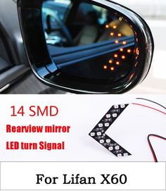 4.76$  Buy here - http://ali43w.shopchina.info/go.php?t=32794717742 - 2Pcs/Lot Car Styling 14 SMD LED Turn Signal Light For Car Rear View Mirror Arrow Panels Indicator For Lifan X60  #magazineonlinebeautiful
