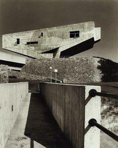 Begrisch Hall, New York University 1961 Marcel Breuer  Shadows make it look Escher-like.