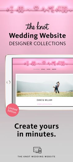 The Knot Wedding Website Designer Collection: All-in-One Registry, Guest Tools & More. Browse Designs and Create Your Page For Free.