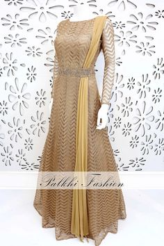 PalkhiFashion Exclusive Astounding Gold Designer gown