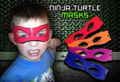 Teenage Mutant Ninja Turtle Masks (Digital File). $6.00, via Etsy.
