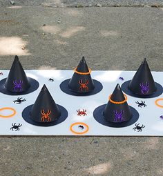 The weather has turned mild, the leaves have started to change color, and Halloween is in the air! Whether you're throwing a Halloween class party or having some friends over for games before trick or treating, these Halloween-inspired games are sure to be a hit. Not only are they fun for kids of all ages, but they're easy to set up and play, using supplies that you probably have around the house already. #InspiredGathering #ad