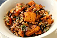 Milk and Honey: Spicy Pumpkin with Roasted Pumpkin Seeds and Pangrattato
