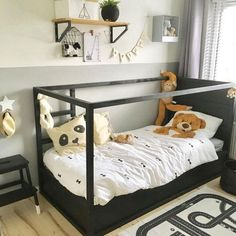 New baby bedroom ikea kura hack ideas Shabby Chic Bedroom Furniture, Childrens Bedroom Furniture, Bedroom Decor, Big Girl Rooms, Boy Room, Ikea Kids Bed, Ikea Kura Hack, Kids Bedroom Designs, Baby Bedroom