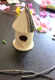 birdhouses seashells and craft stores on pinterest. Black Bedroom Furniture Sets. Home Design Ideas