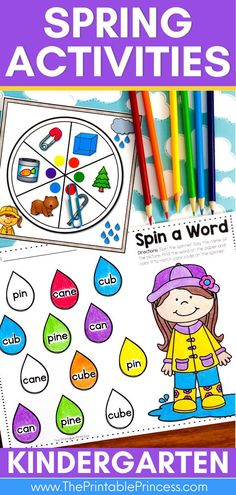 """This low-prep, fun and engaging packet is loaded with spring activities and partner games for Kindergarten! Students will follow """"I Can"""" visual directions to promote independence as they practice counting, adding and subtracting, tally marks, story problems, teen numbers, CVC, CVCe, sentence writing, word work and more! Place Value Activities, Addition Activities, Subtraction Activities, Kindergarten Math Activities, Word Work Activities, Counting Activities, Spring Activities, Kindergarten Classroom, Writing Activities"""