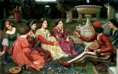 A Tale from the Decameron - John William Waterhouse, 1916.