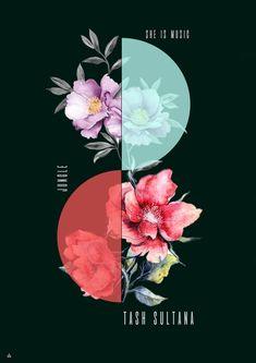 Flower Graphic Design, Graphic Design Trends, Graphic Design Posters, Web Design, Graphic Design Inspiration, Typography Design, Layout Design, Mises En Page Design Graphique, Arte Dope