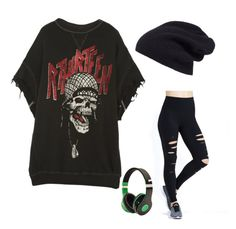 """""""Rebel Yell"""" by lula-kruta ❤ liked on Polyvore featuring R13, Alo and Halogen"""