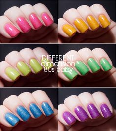 MINIs - 80's baby collection (6 colors) - LIMITED EDITION - Hand Mixed Nail Polish. $27.00, via Etsy.