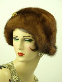 VINTAGE HAT 1950s FRENCH, BEAUTIFUL SOFT BRIGHT RUST FUR HAT w BIG BALL HAT PIN | eBay