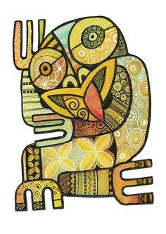 Yellow Haka Nz Art, Art For Art Sake, Maori Symbols, New Zealand Art, Wall Art Wallpaper, Maori Art, Kiwiana, Art Icon, Tropical Art