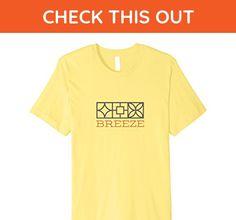 Mens Retro BREEZE Block MCM T-Shirt (Bright Colors) Large Lemon - Retro shirts (*Amazon Partner-Link)