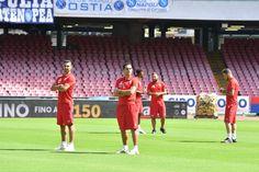 Beneventos spillere er ankommet til San Paolo i Napoli, hvor der om godt 5 kvarter er derby i Campania.