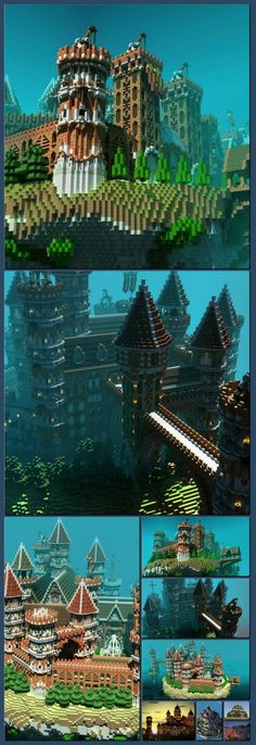 Floating Minecraft Island Castle [Collage made with one click using http://pagecollage.com] #pagecollage  http://hoog.li/g?g=http://minecraftgallery.com/gallery/floating-minecraft-island-castle/