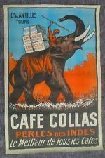 Affiche publicitaire CAFE COLLAS Imp. La Semeuse 1927