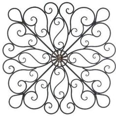 Black Wrought Iron Wall Decor iron crosses decor |  wrought iron metal cross shabby wall