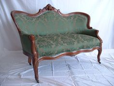 Original Antique Victorian Settee | eBay    Beautiful, like the color/pattern, but it's not a Duncan Phyfe