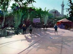 Divan yolu Istanbul by Tim Wilmot (watercolor)