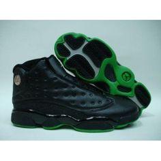 new product 79ede 7a8fa Air Jordan 13 Retro Black Altitude Green