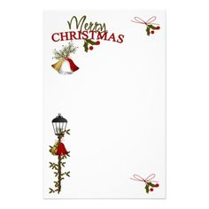 Merry Christmas Letter Customized Stationery by ChristmasByDezign
