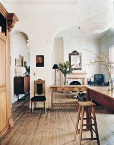 plank board floors and archways