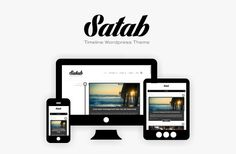 Satab - Timeline WordPress Blog Theme is a wordpress theme for the bloggers. It has a clean design with a lot of features.It is a perfect reel for your blog content, personal resume, corporate history timeline, photography, culinary or musician blog.