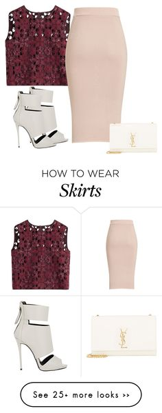 """Bez naslova #3423"" by ramayanna on Polyvore featuring Alberta Ferretti, Giuseppe Zanotti and Yves Saint Laurent"